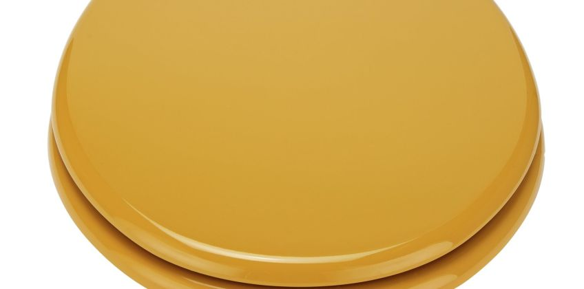Argos Home Moulded Wood Toilet Seat - Mustard from Argos