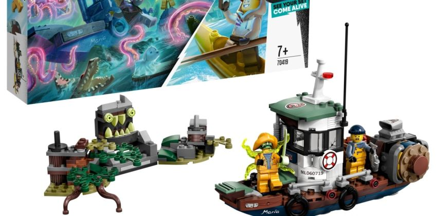 LEGO Hidden Side Wrecked Shrimp Boat Toy and AR Games -70419 from Argos