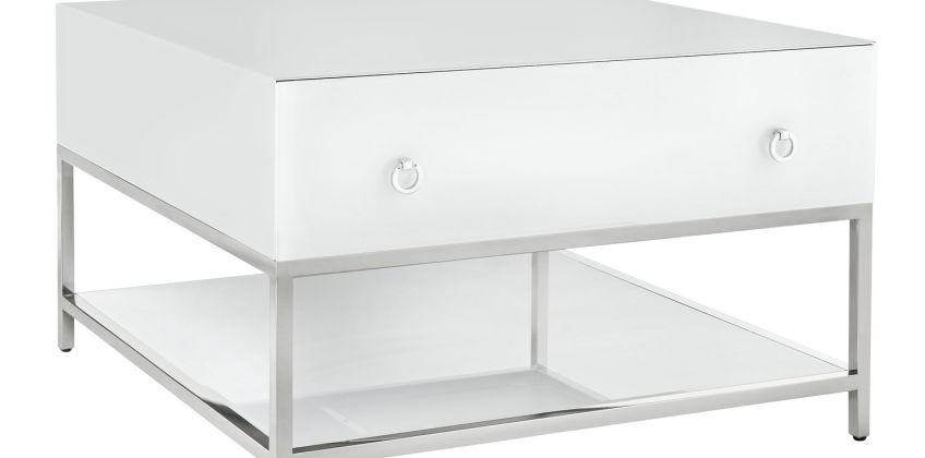 Argos Home Bianco White Glass Coffee Table from Argos
