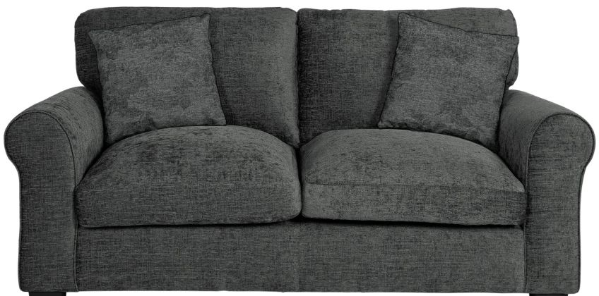 Argos Home Tammy 2 Seater Fabric Sofa - Charcoal from Argos