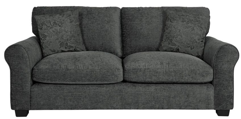 Argos Home Tammy 3 Seater Fabric Sofa - Charcoal from Argos