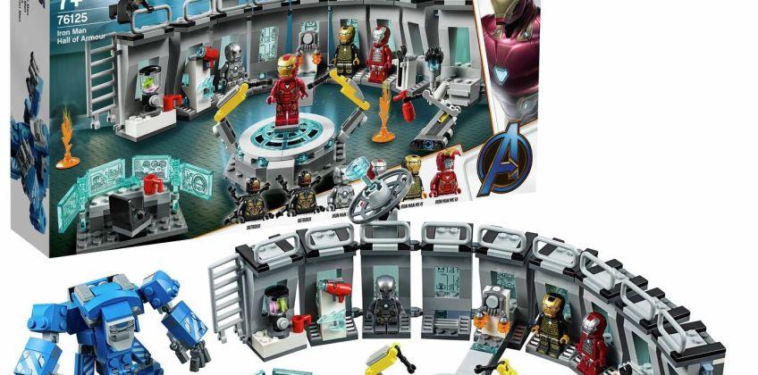 LEGO Marvel Avengers Iron Man Hall of Armor Lab Set - 76125 from Argos