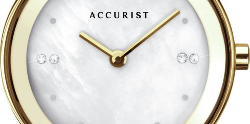 Accurist Ladies Gold Plated Bracelet Watch from Argos