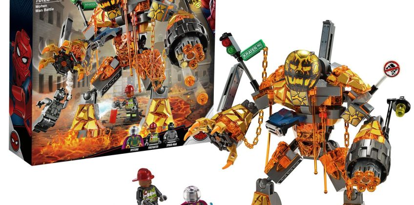 LEGO Marvel Spider-Man Molten Man Battle Toy - 76128 from Argos