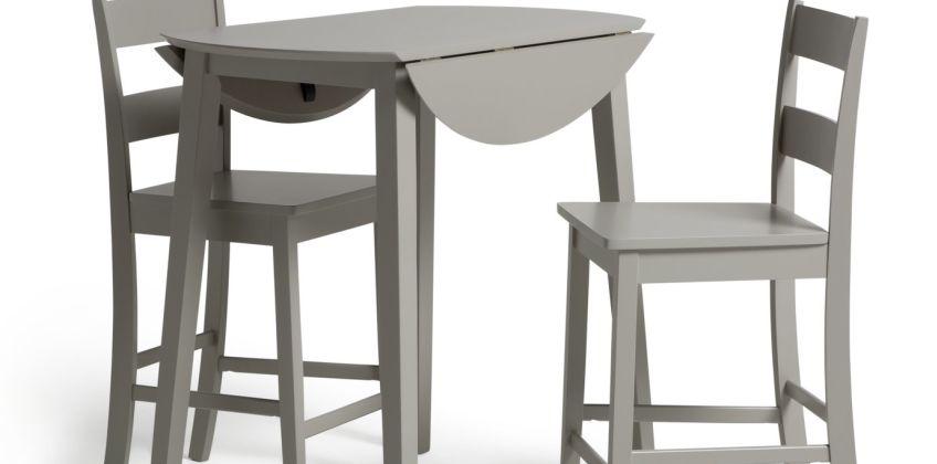 Argos Home Chicago Extending Bar Table & 2 Stools - Grey from Argos