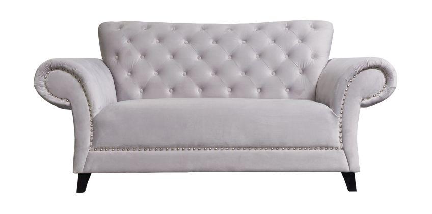 Argos Home Chelsea 2 Seater Velvet Sofa - Grey from Argos
