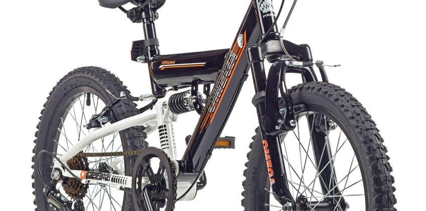 Piranha 18 Inch Omega Dual Suspension Kid's Mountain Bike from Argos