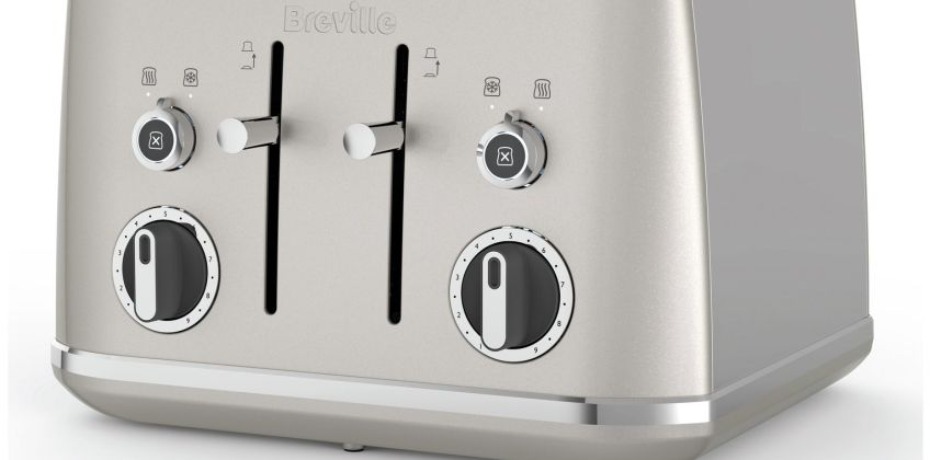 Breville VTT851 Lustra 4 Slice Toaster - Cream from Argos