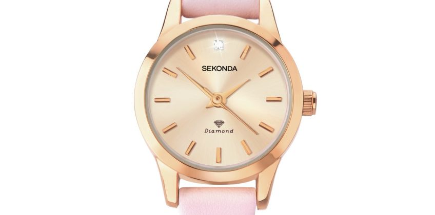 Sekonda Ladies Blush Pink Strap Watch from Argos
