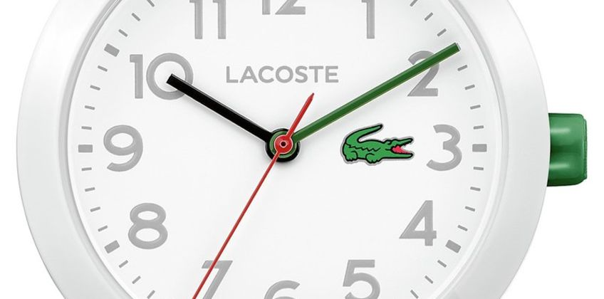 Lacoste Unisex  White Silicone Strap Watch from Argos