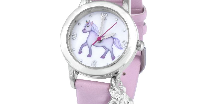 Emoji Unicorn Faux Leather Strap Watch from Argos