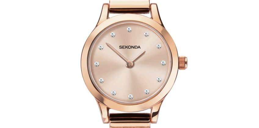 Sekonda Ladies Rose Gold Coloured Bracelet Watch from Argos
