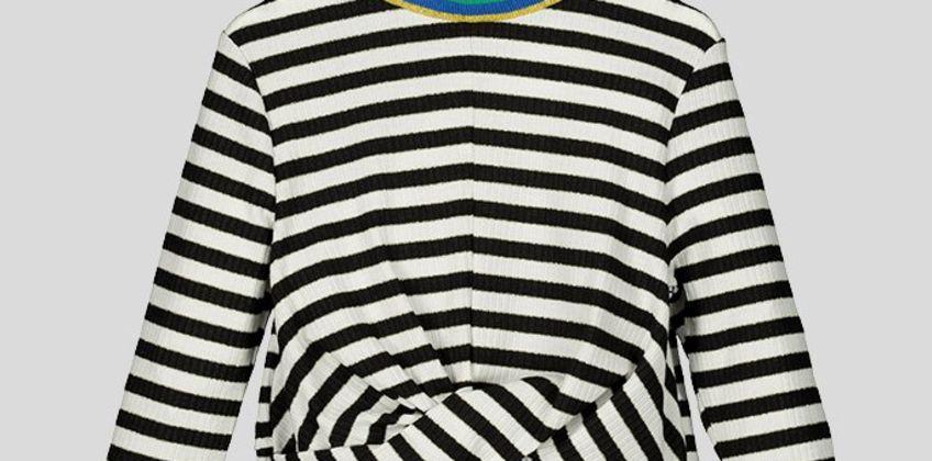 Black Stripe Twist Top - 14 years from Argos