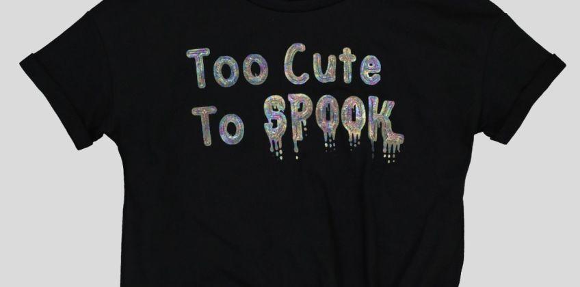 Black Halloween Spook Top from Argos