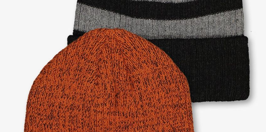 Multicoloured Rib Knit Beanie Hat 2 Pack from Argos