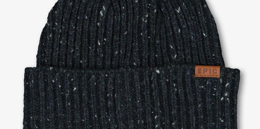 Navy Speckled Knit Beanie from Argos
