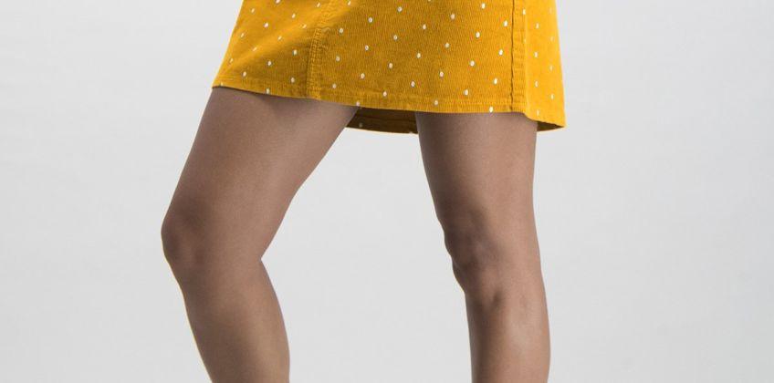 Mustard Spot Corduroy Mini Skirt from Argos