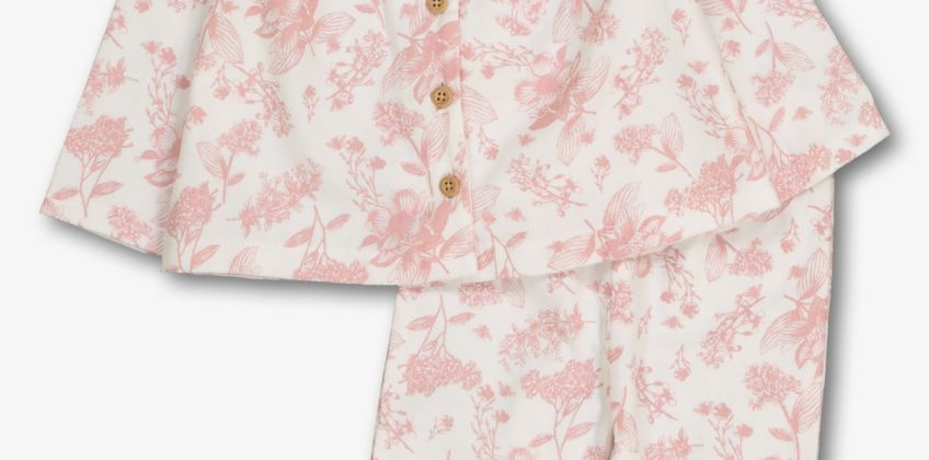 Pink Floral Pyjama Set from Argos