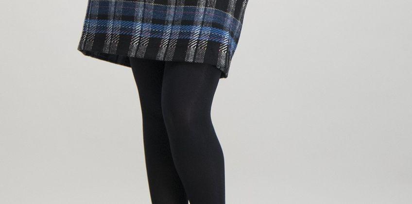 Black & Blue Check Mini Skirt from Argos