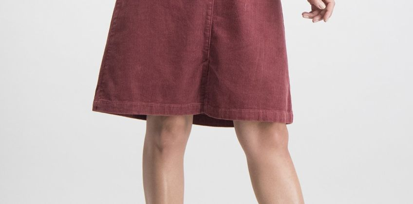 Dark Pink Corduroy Skirt from Argos