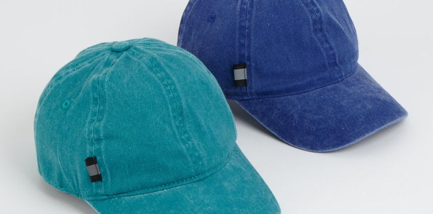 Blue & Teal Washed Caps 2 Pack from Argos