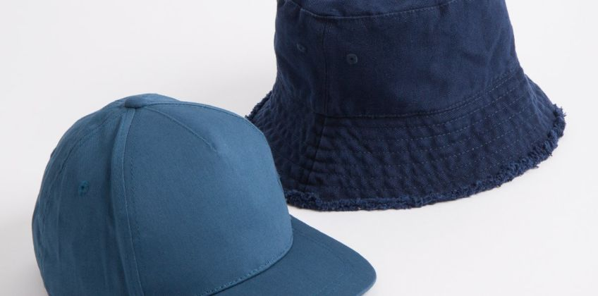 Navy Bucket Hat & Teal Cap 2 Pack from Argos