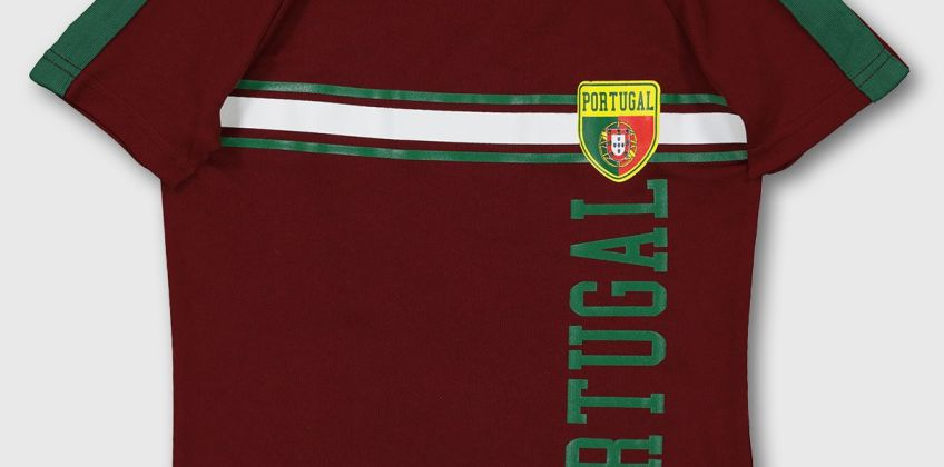 Burgundy Portugal Football Shirt from Argos