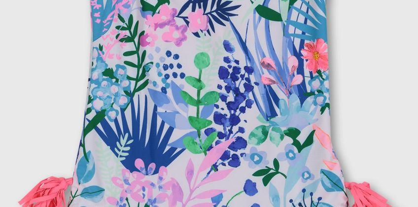 Floral Print Tassel Swimsuit from Argos