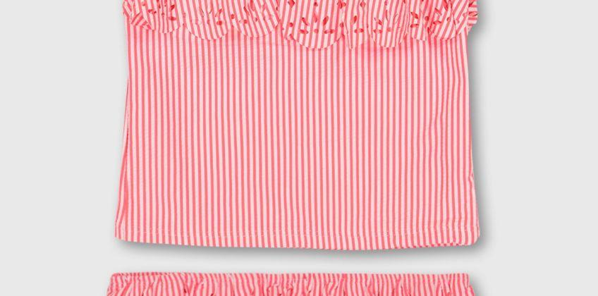 Pink Stripe Seersucker Tankini from Argos
