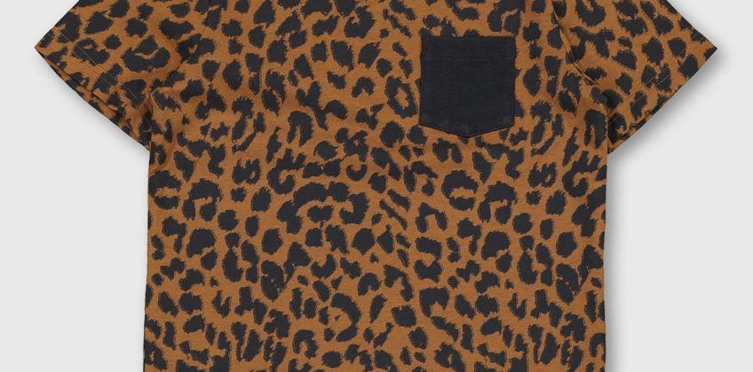 Leopard Print Patch Pocket T-Shirt from Argos