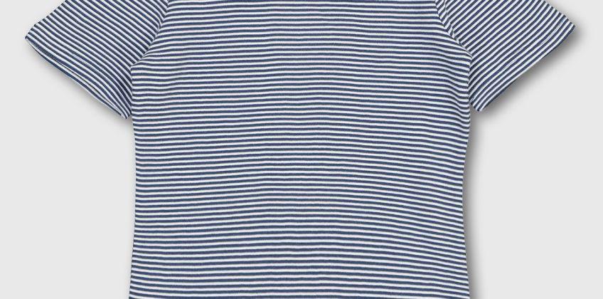 Navy & White Stripe T-Shirt from Argos