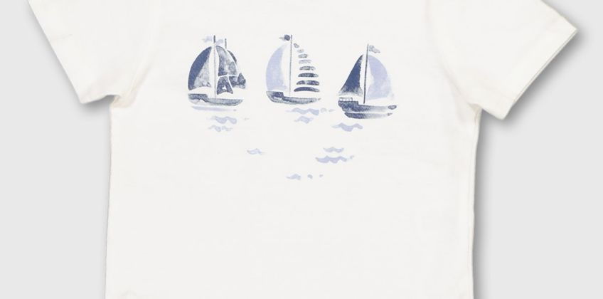 Boat Graphic T-Shirt from Argos