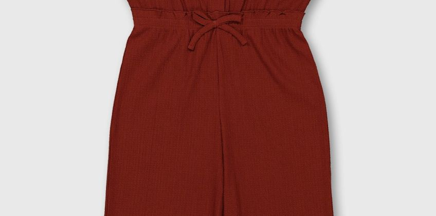 Rust Crinkle Jersey Jumpsuit from Argos