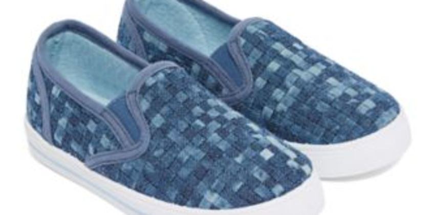 blue weave pumps from Mothercare