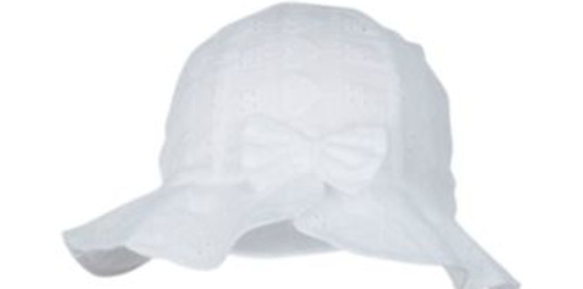 white broderie sun hat from Mothercare