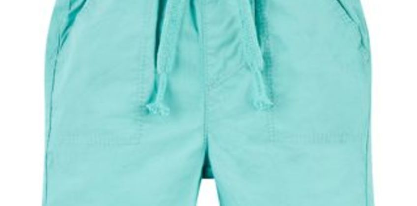 turquoise poplin shorts from Mothercare