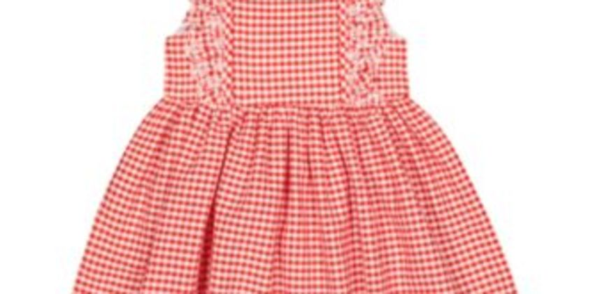 red gingham dress from Mothercare