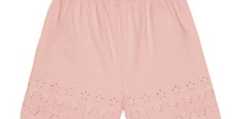 pink broderie shorts from Mothercare