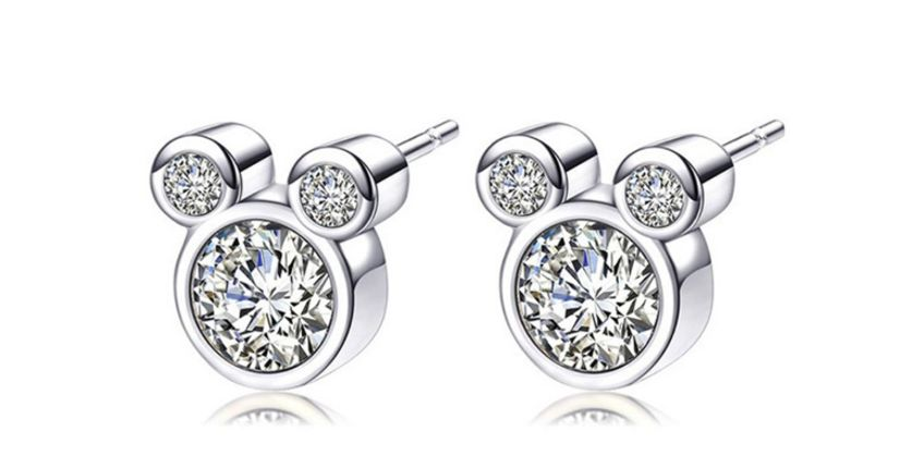 £3.99 for a pair of triple crystal mouse earrings from Solo Act Ltd  from Wowcher