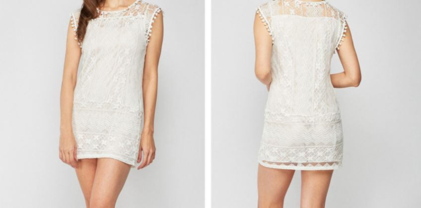 £6.99 instead of £16 (from Cascabelle) for a white lace dress - save 56% from Wowcher