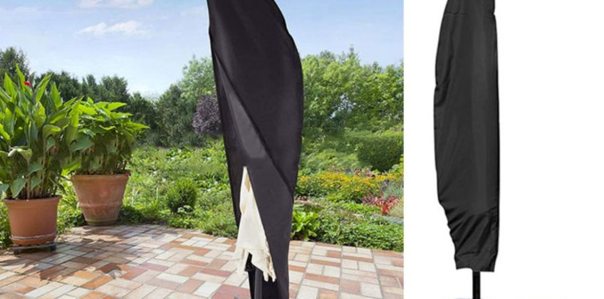 £7.99 instead of £29.99 (from Domo Secret) for a 265cm waterproof parasol cover, £9.99 for a 280cm cover- save up to 73% from Wowcher