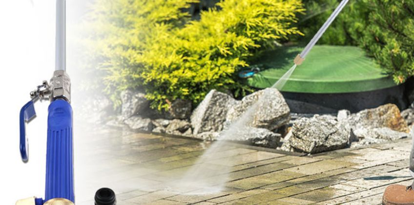 Clean your patio like never before with a high-pressure power washer hose attachment! from Wowcher