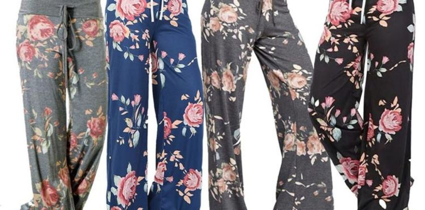 £8 instead of £40 (from Boni Caro) for floral print loungewear trousers - save 80% from Wowcher