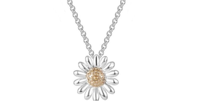 £3.99 instead of £15.99 for a Philip Jones daisy pendant necklace from Silver Supermarket Ltd - save 75% from Wowcher