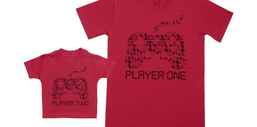 £12 (from Zarlivia) for matching player one and player two t-shirts – choose from two colours from Wowcher