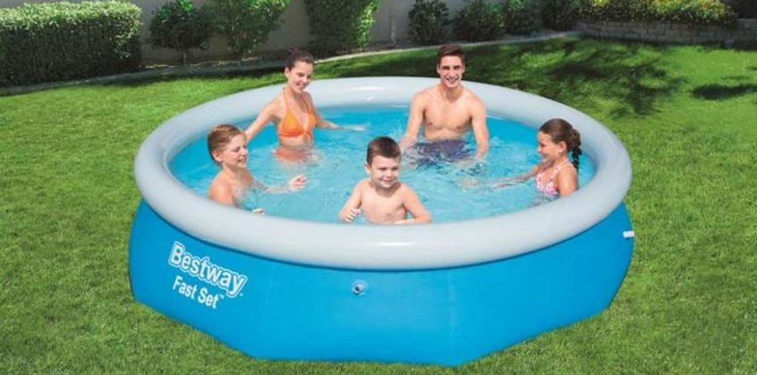 £19 instead of £59.99 (from Games And Fitness) for a 6'6ft Fast Set above ground swimming pool, £28 for 8ft size, £36 for 10ft size and £44.99 for 12ft size - save up to 67% from Wowcher