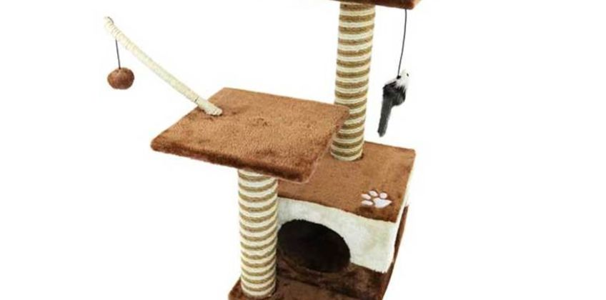 £21.99 instead of £83.30 (from Who Needs Shops) for a cat scratching post and activity centre - save 74% from Wowcher