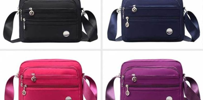 £7.98 instead of £19.99 (from Hey4Beauty) for a multifunctional messenger bag –save 60%  from Wowcher