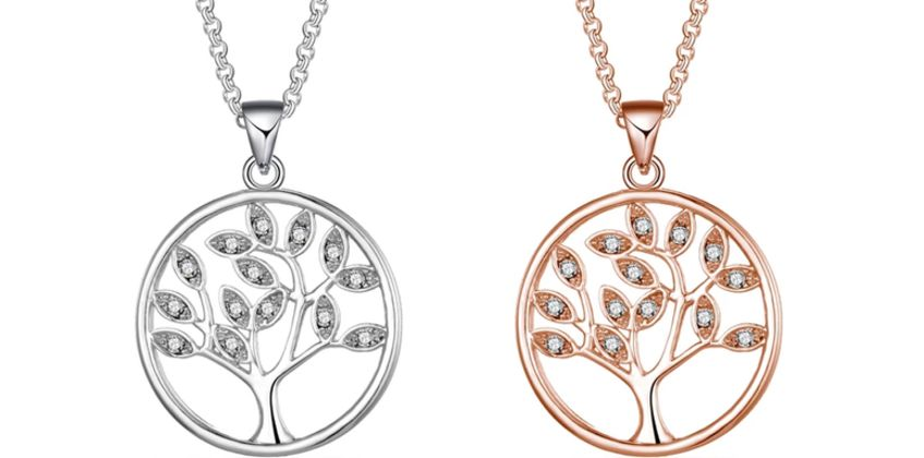 £7.99 instead of £17.99 for a Philip Jones tree of life necklace made with with crystals from Swarovski® from Silver Supermarket Ltd - save 56% from Wowcher