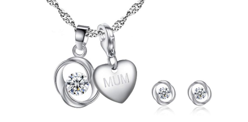 £14 (from Your Ideal Gift) for a personalised charm necklace and swirl earrings – choose from 16 charms from Wowcher